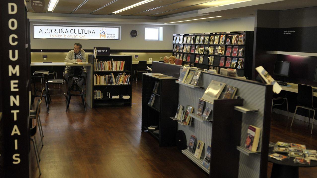 Biblioteca del Fórum Metropolitano de A Coruña. Imagen de archivo