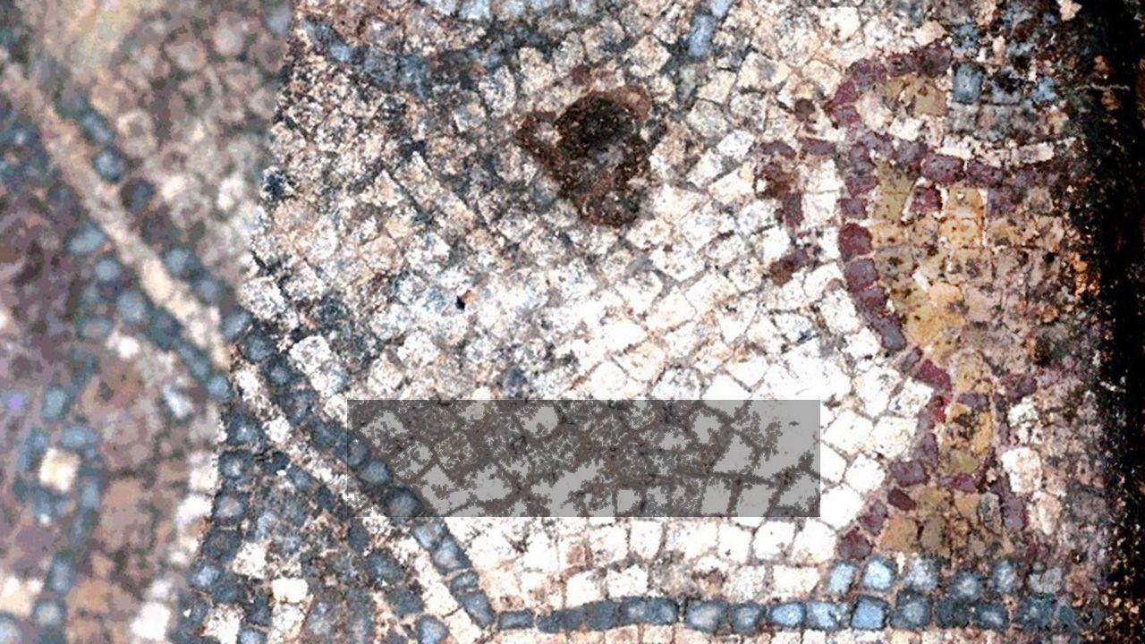 La primera imagen publicada de la copa del mosaico de la villa romana de San Martín de La Estaca, en el concejo de las Regueras (Asturias)