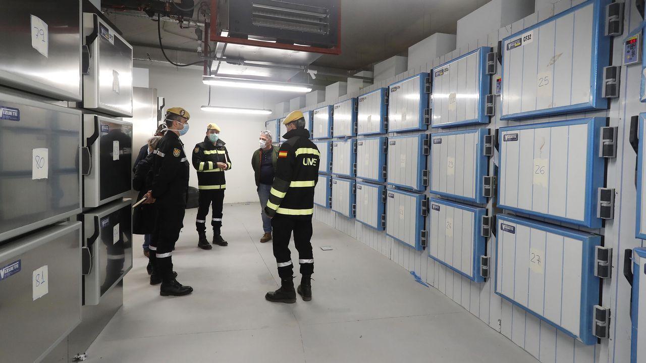 Cámaras frigoríficas para cadáveres en el edificio de la Ciudad de la Justicia