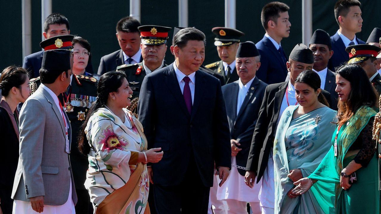 Xi, durante una visita a Nepal