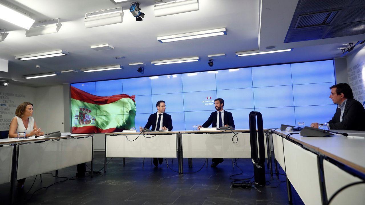 Foto de archivo de una reunión en Génova de la nueva cúpula del PP