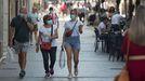 Ambiente en la ciudad de Lugo, que suma 567 contagios.