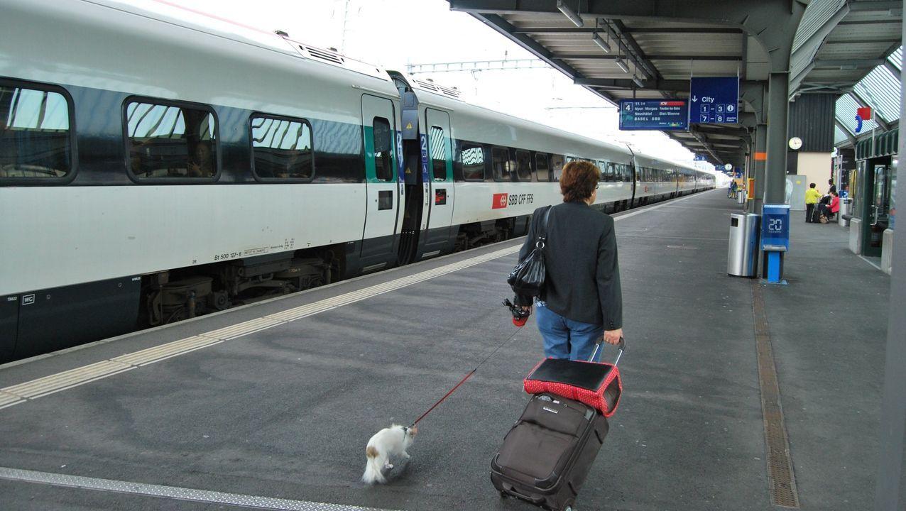 Estación de Cornavin, en Ginebra, punto de entrada en Suiza de la emigración gallega