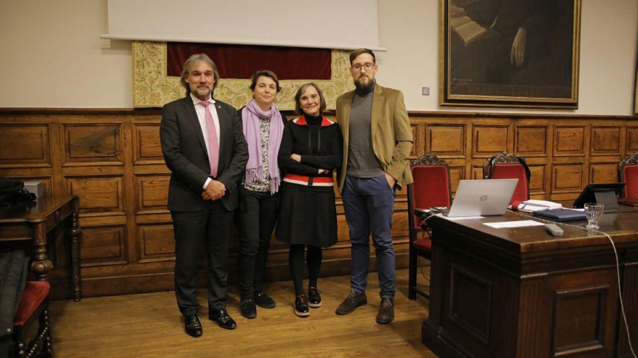 Participantes en la investigación, durante la presentación de la misma