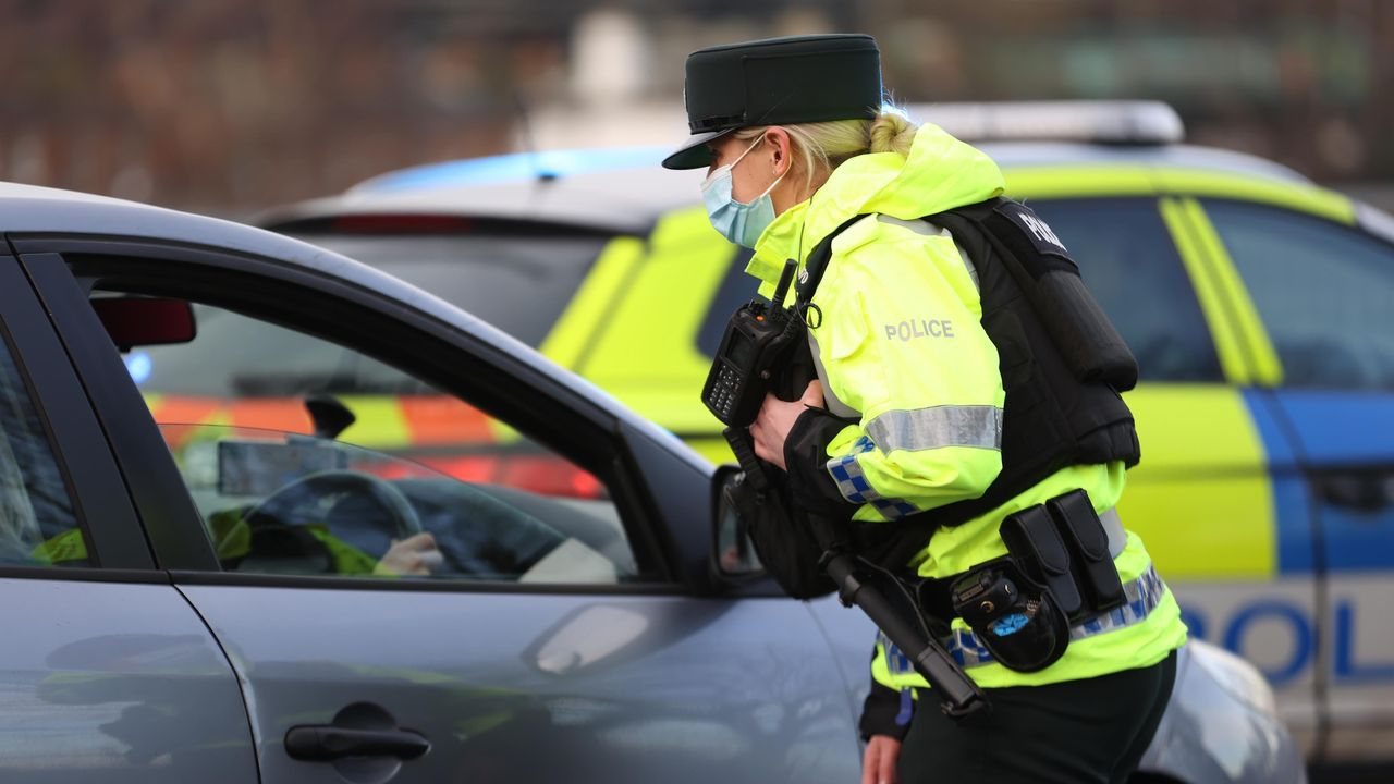 Control policial en Belfast