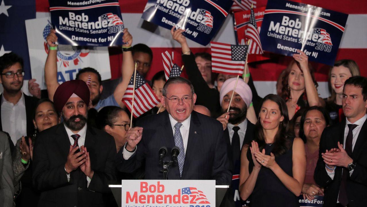 Seguidores del candidato democrata por Arizona a la Camara de Representantes de EE.UU.