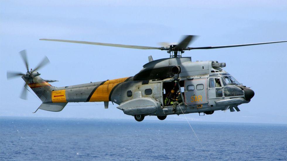 Buscan a tres militares desaparecidos de un helicóptero del Ejército del Aire
