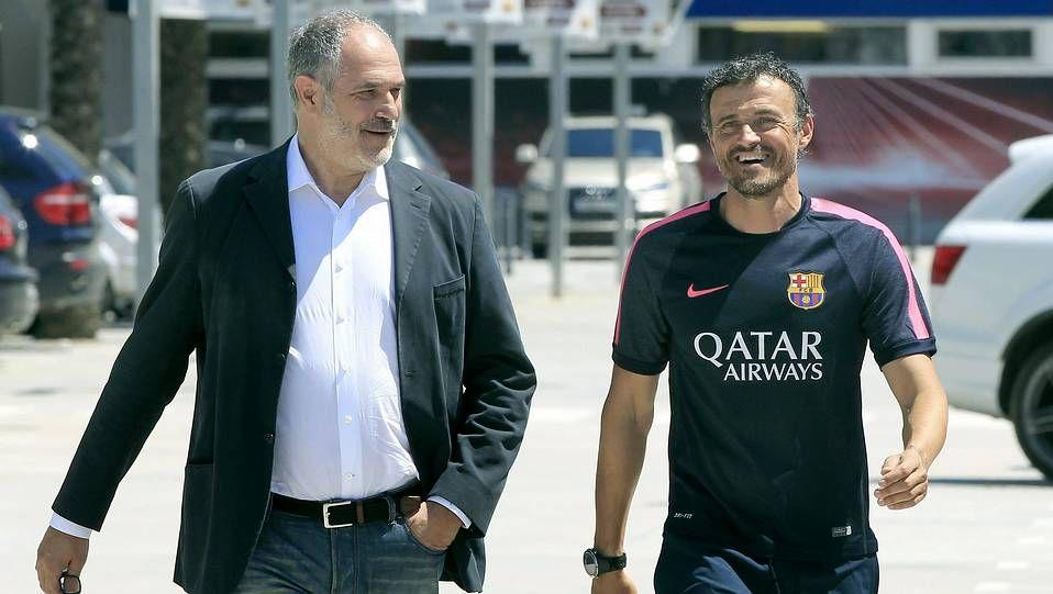 Zubizarreta y Luis Enrique, hoy en Barcelona