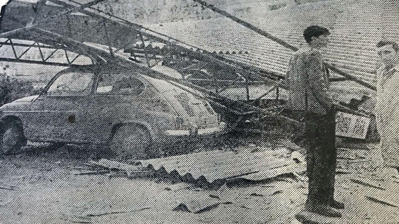 Imagen de La Voz de Asturias que muestra los daños causados por la explosión de Ensidesa registrada el 6 de febrero de 1971