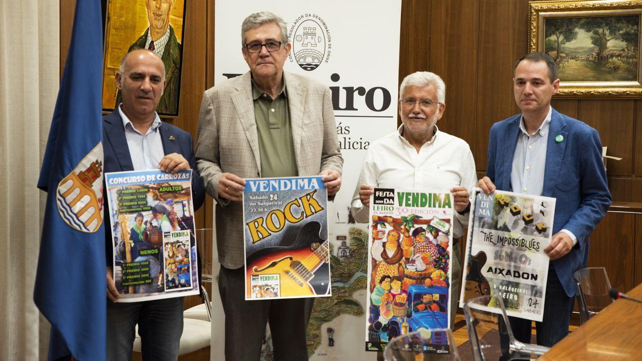 Mariano Rajoy: «Viva el vino del Ribeiro».El líder de Ciudadanos en el Parlamento catalan, Carlos Carrizosa, durante la rueda de prensa ofrecida hoy