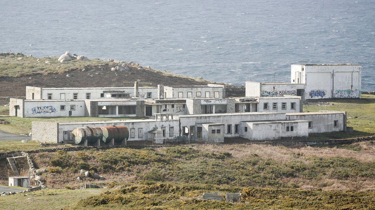 La base americana de Estaca de Bares en imágenes.Salida de la fragata del arsenal, en el mes de junio