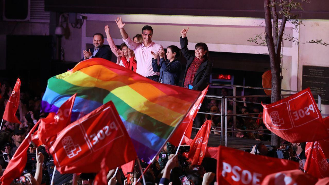 Celebración en la sede del PSOE