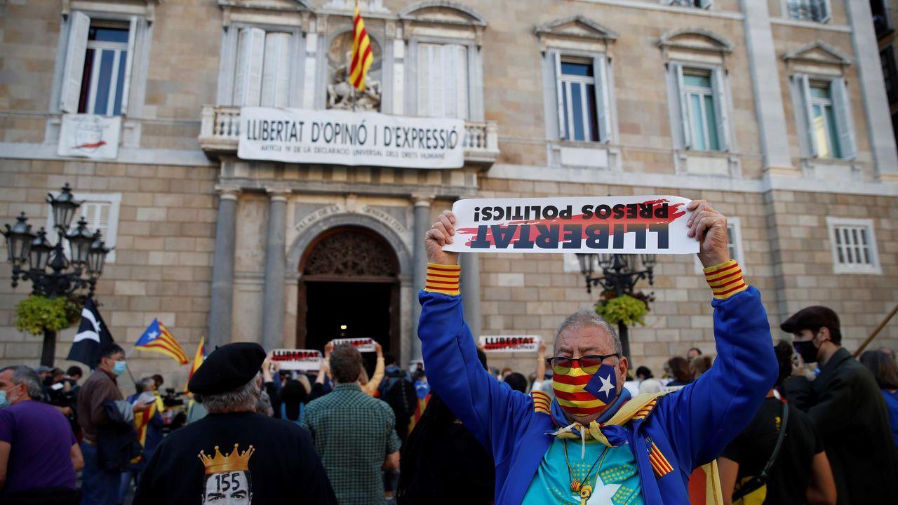 Concentración este lunes frente al Palau de la Generalitat