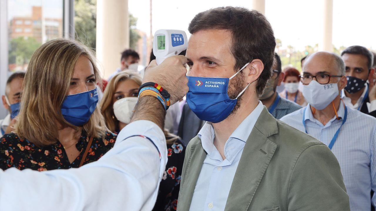 Pablo Casado, ayer en el congreso del PP de Valencia