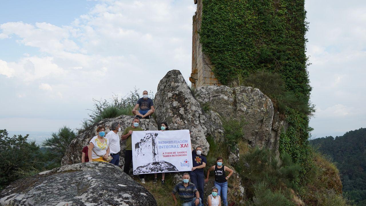 Acto reivindicativo del BNG en la torre de Sande, en Cartelle