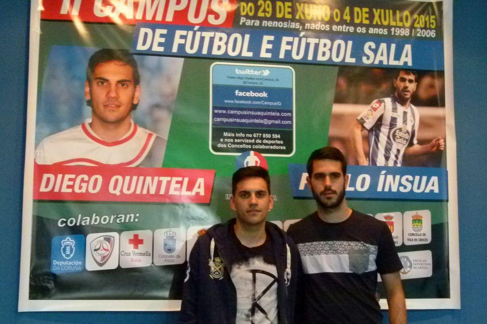 Diego Quintela y Pablo Insua, en la presentación del campus.