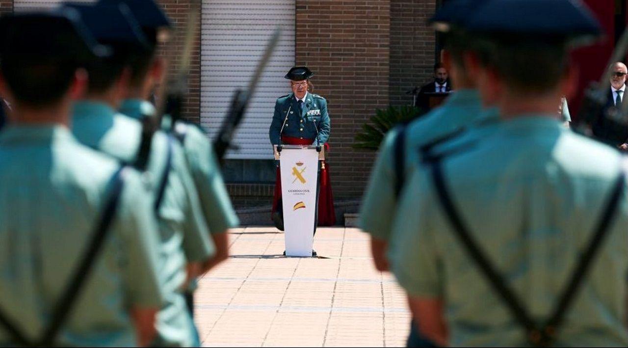 Pedro Garrido, en el 2018, tras jurar como jefe en Cataluña de la Guardia Civil