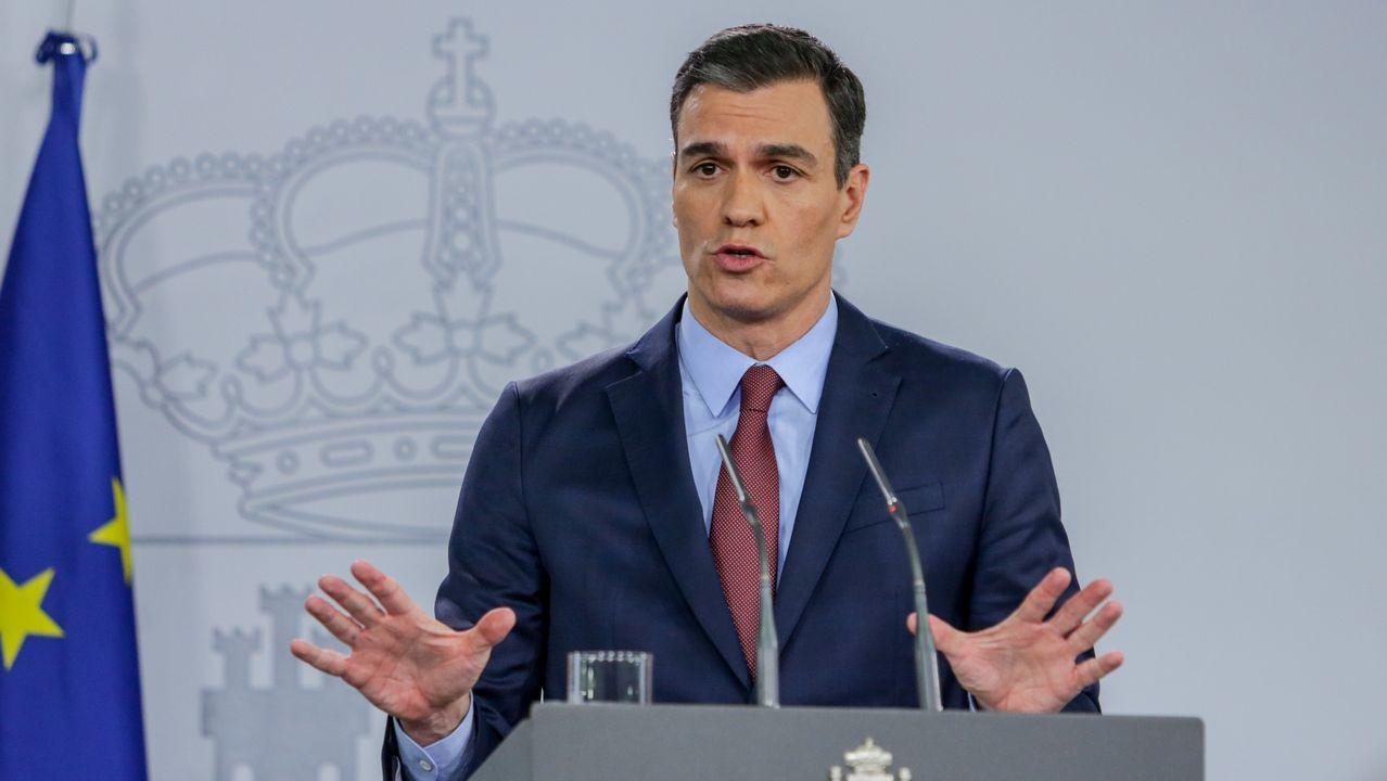 Declaración institucional de Pedro Sánchez.El presidente de la Generalitat, Quim Torra, en una conferencia en Vitoria en el 2018