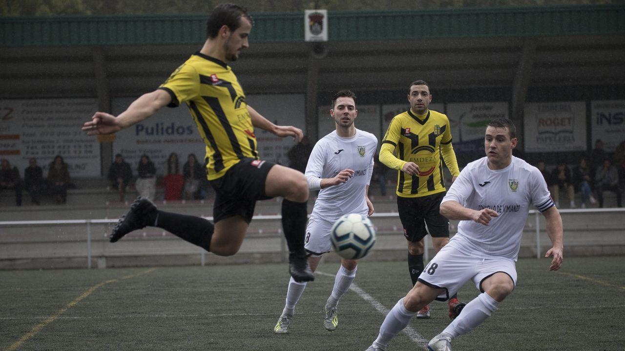 Imagen del derbi de Preferente entre el Sofán y el Laracha la temporada pasada