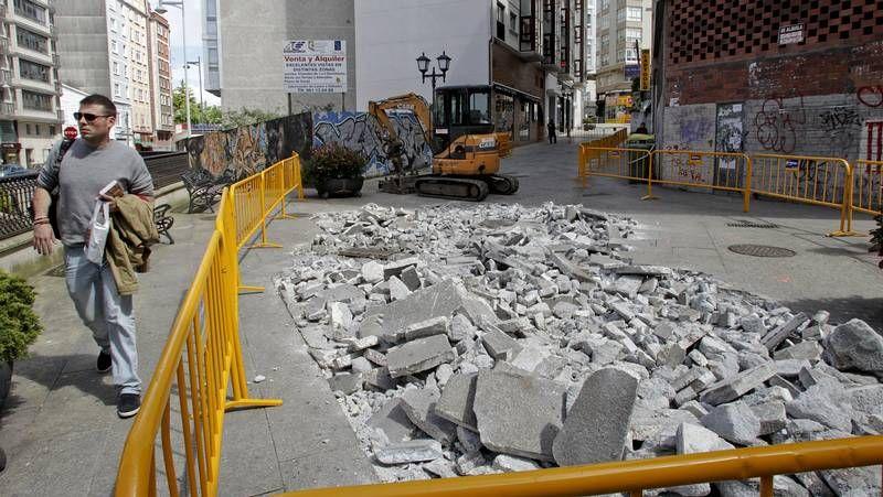 Comienzan las obras en la calle Gaiteira