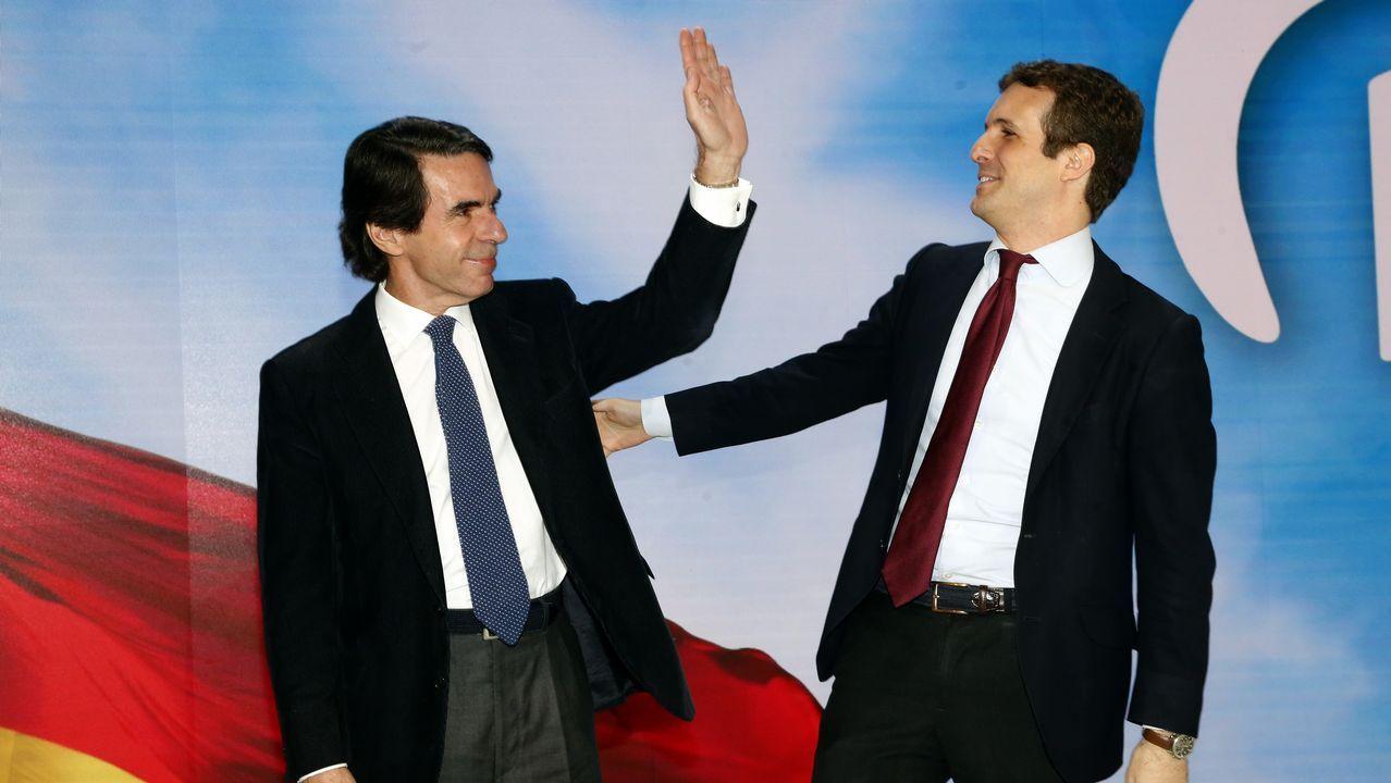 Entrega del BAM Furor a la Armada en Ferrol.Pablo Casado y Juanma Moreno en la convencio´n del PP