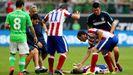 Momento de la lesión de Mario Suárez