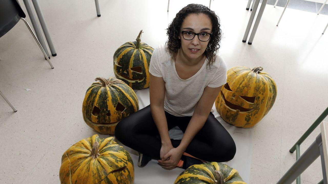 Las 300 calabazas del alumnado de Ventín.Colegio de La Gesta, Oviedo