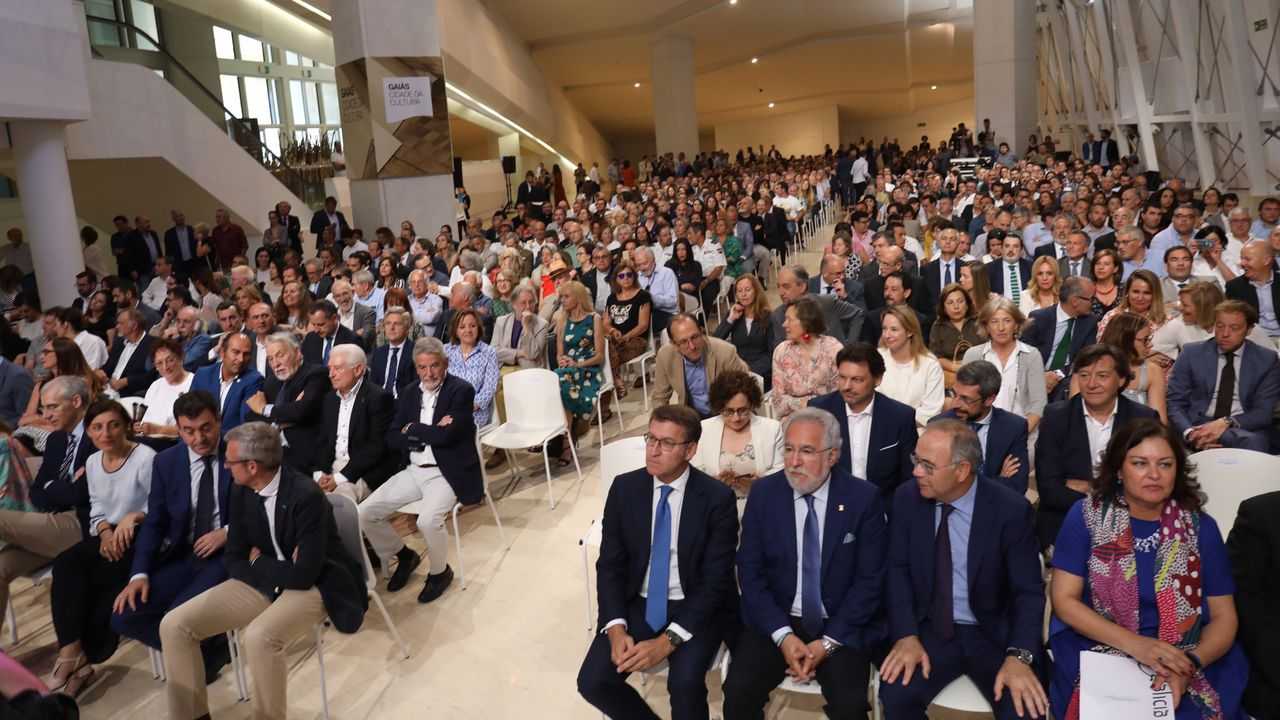 Presentacion plan estrategico del xacobeo 2021- video.Pedro Sánchez y Alberto Núñez Feijoo a las puertas de Moncloa