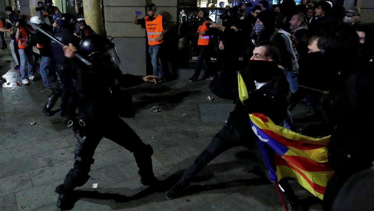 Disturbios en Barcelona el 26 de octubre