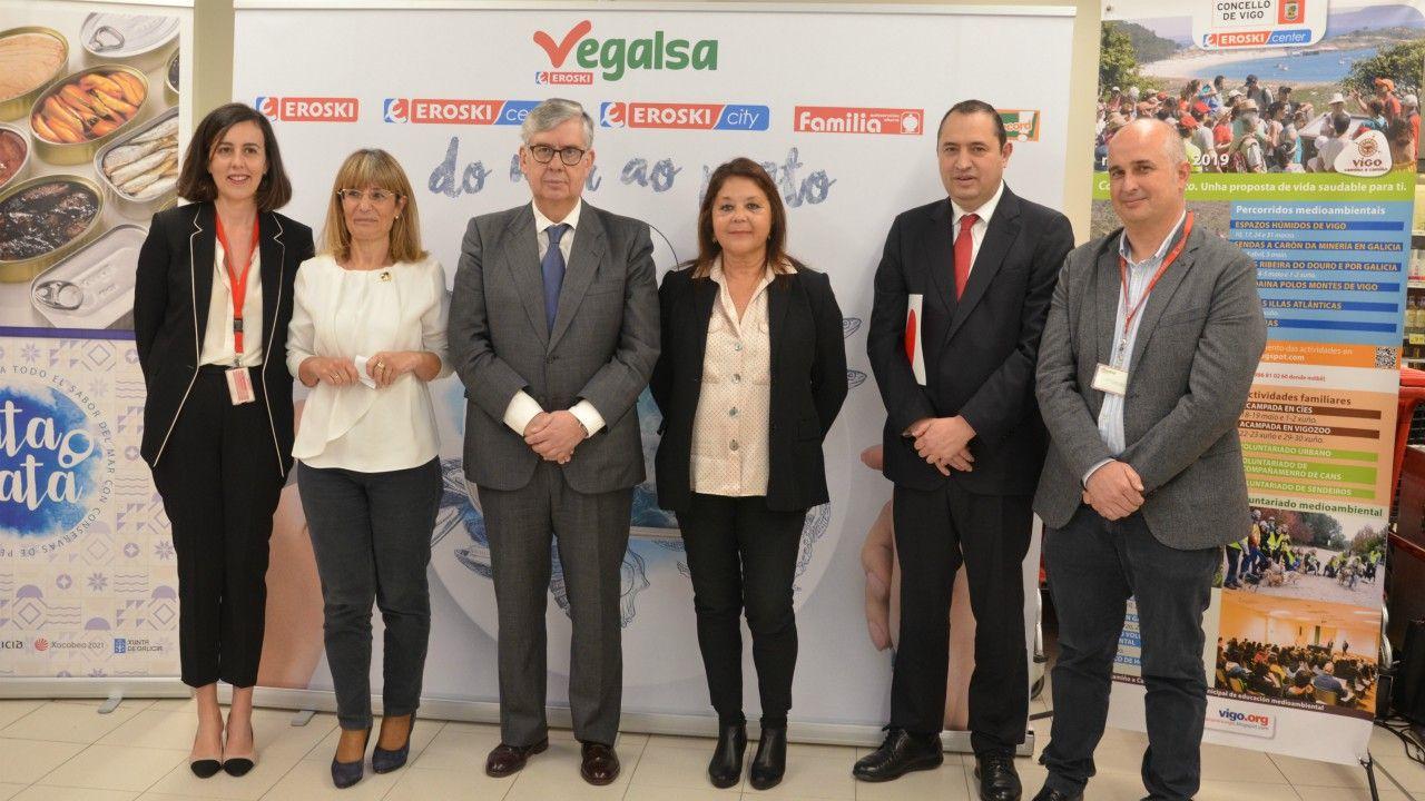 Autoridades, Directivos de Vegalsa-Eroski y de Anfaco-Cecopesca