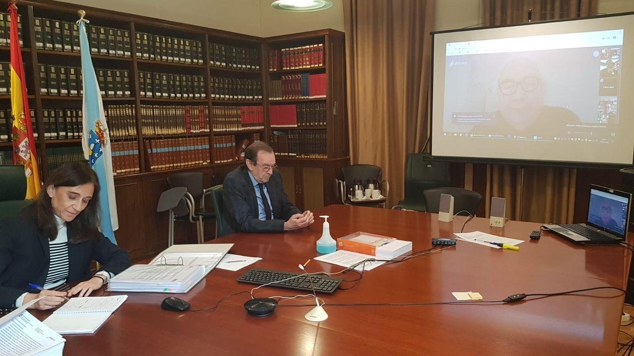 Reunión telemática entre la conselleira de Educacion, el ministro de Universidades y los tres rectores gallegos en abril