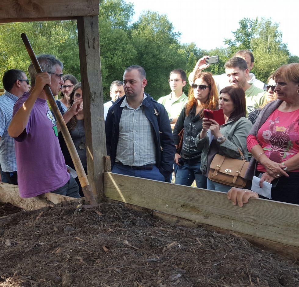La Diputación visitó Navarra para conocer experiencias de compostaje.