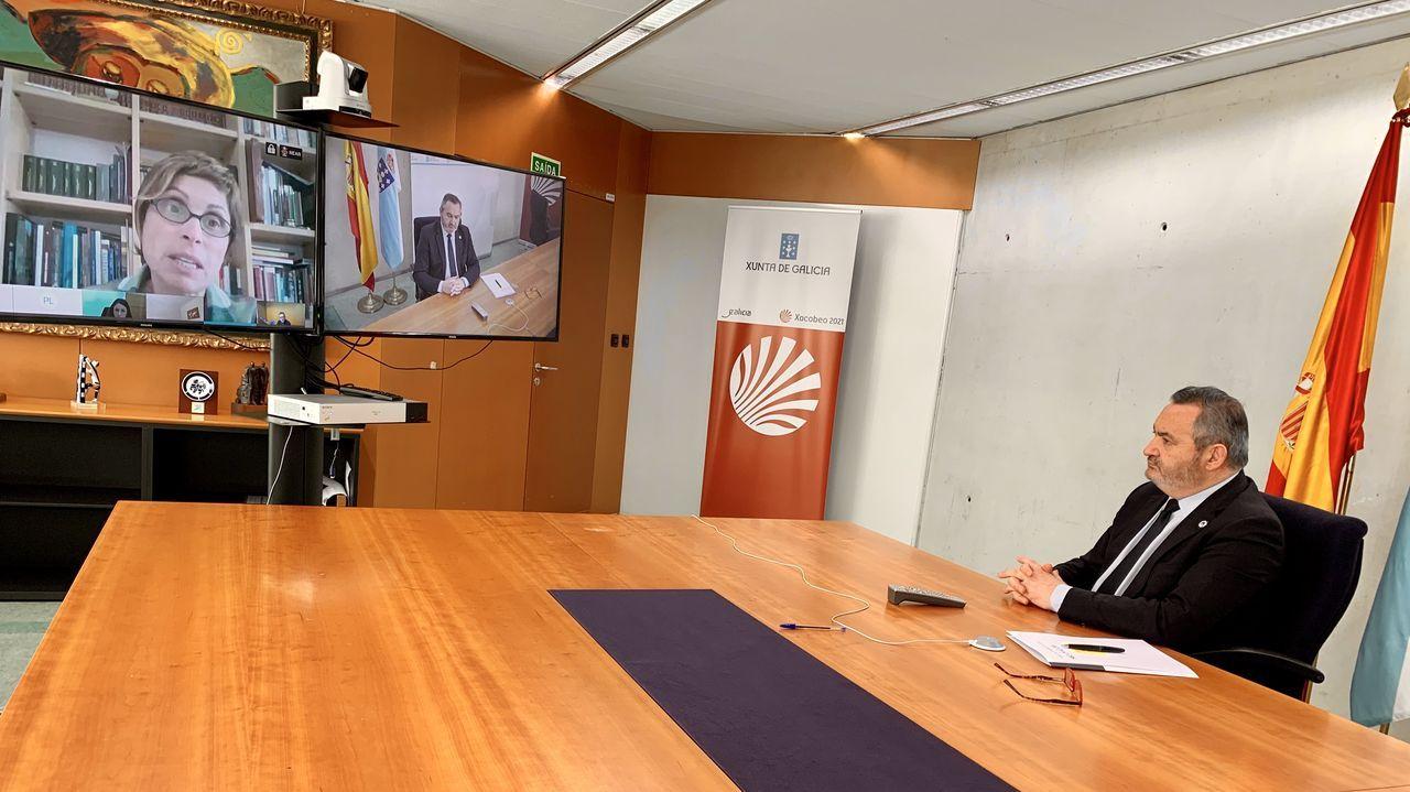 José Manuel Balseiro, a la derecha, en un momento de la videollamada