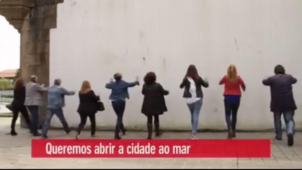 Fotograma del vídeo del PSOE ferrolano