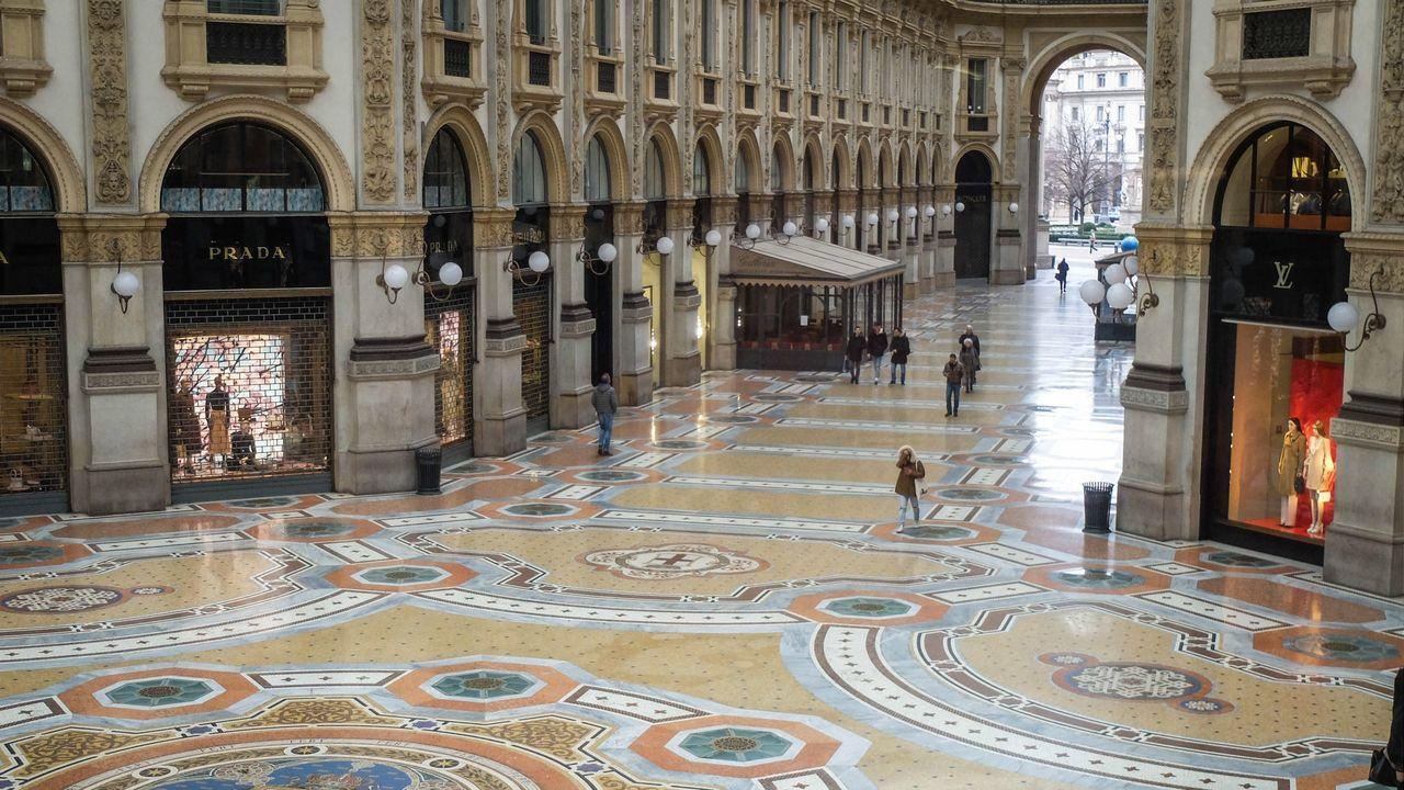 Milán vacío