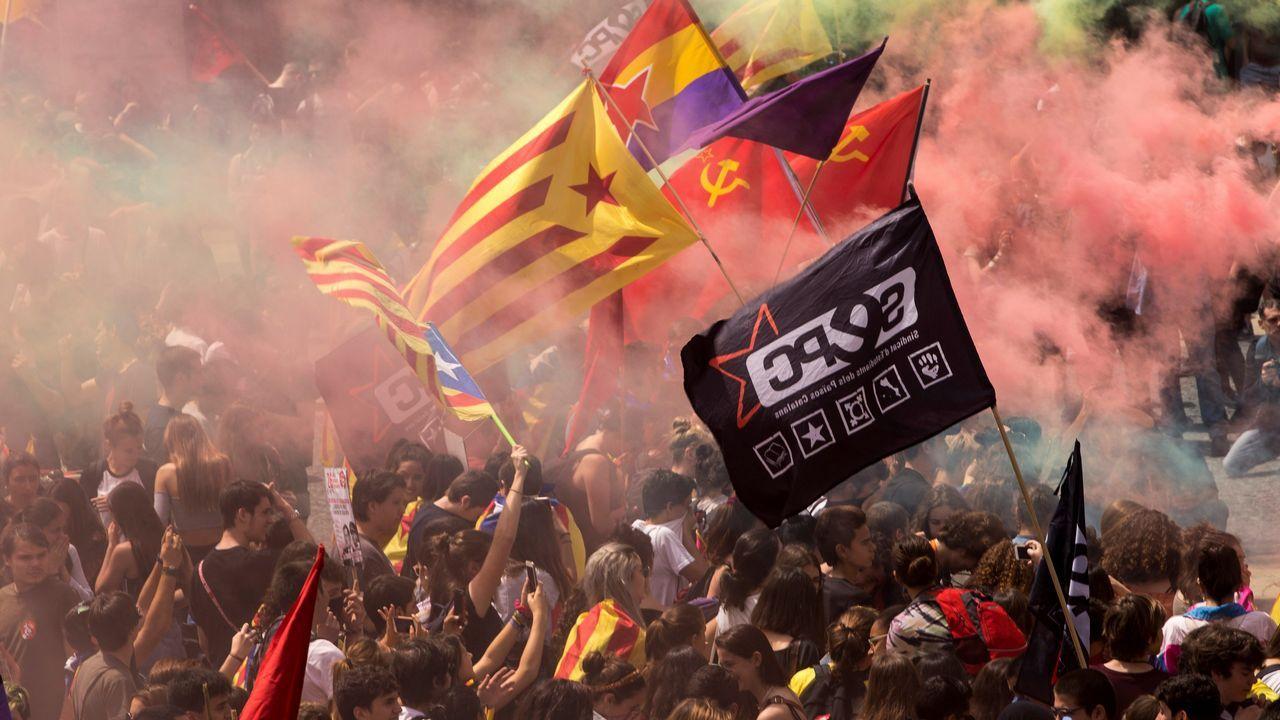 Manifestación estudiantil en Barcelona