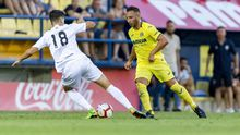 Cazorla en su primer amistoso con el Villarreal