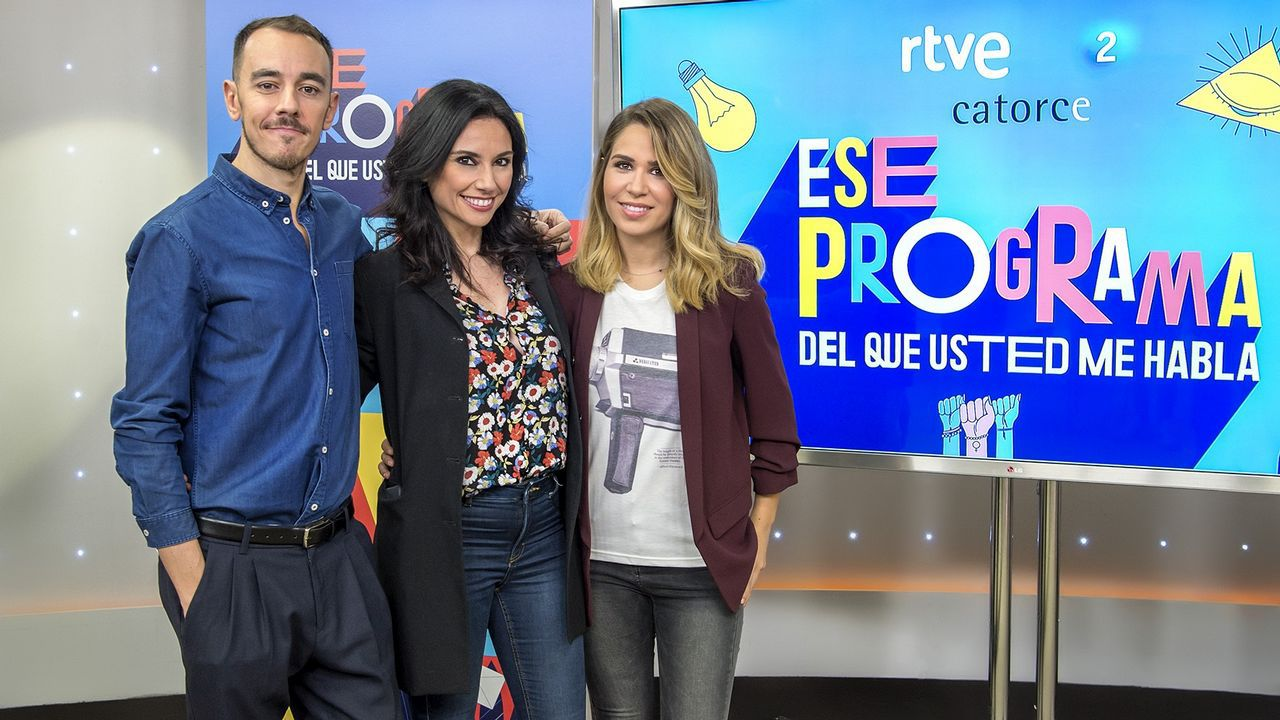 Casado junto a sus compañeras de programa Marta Flich y María Gómez