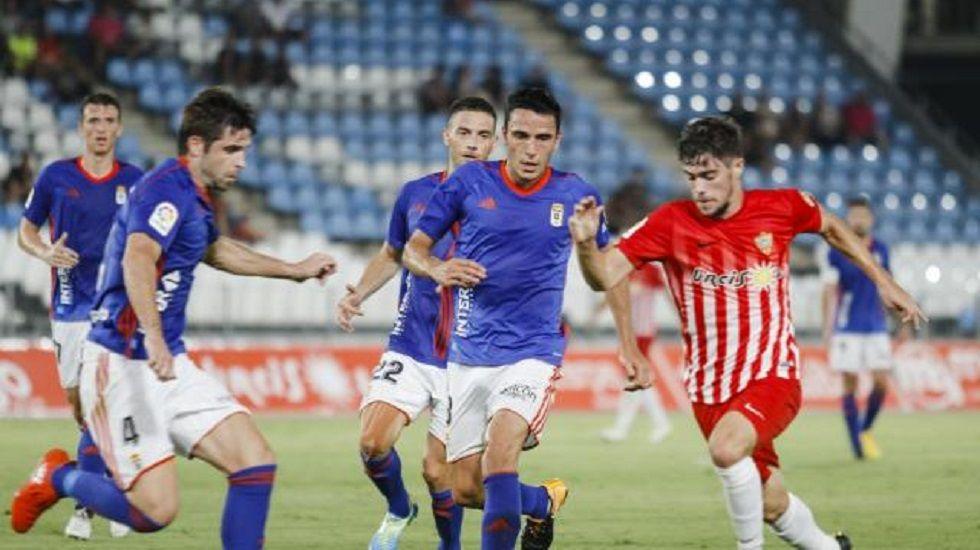 Berjón, Christian, Carlos, Rocha y Verdés celebran el 0-1
