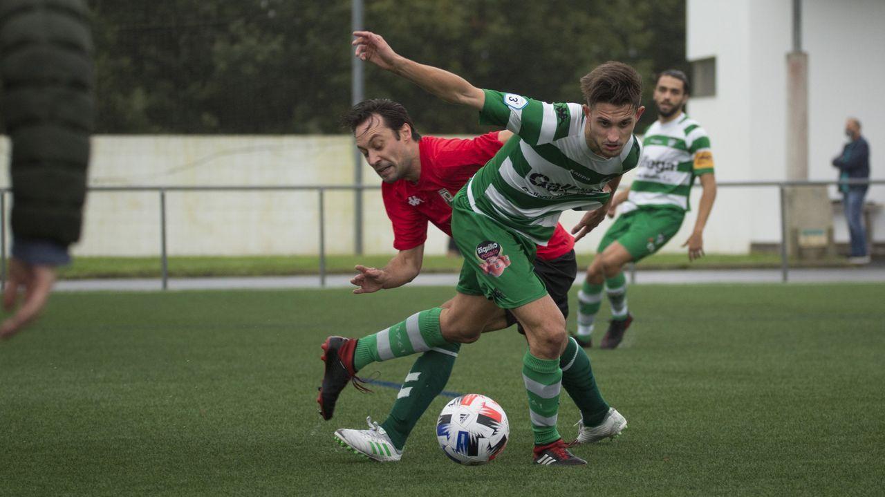 Gandoy, en un lance del partido contra el Vilalbés