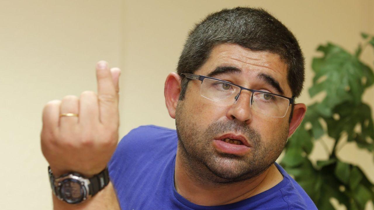 Javier Sánchez, patrón mayor de San Cibrao y vocal en el consejo de la Autoridad Portuaria de Ferrol-San Cibrao, en una foto de archivo