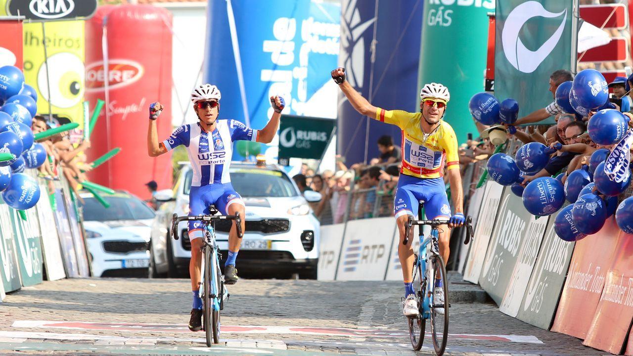 Las imágenes de la última etapa de la Ruta do Albariño de ciclismo.Rosendo Fernández presentó la Ale Ribeira Sacra