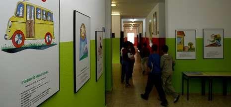 El colegio San Xoan de Filgueira, en una foto de archivo, finalista al Premio Acción Magistral.