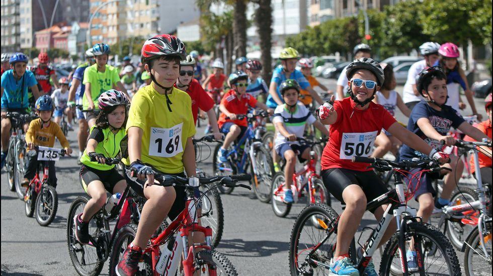 Celebración día de la bicicleta en Ribeira