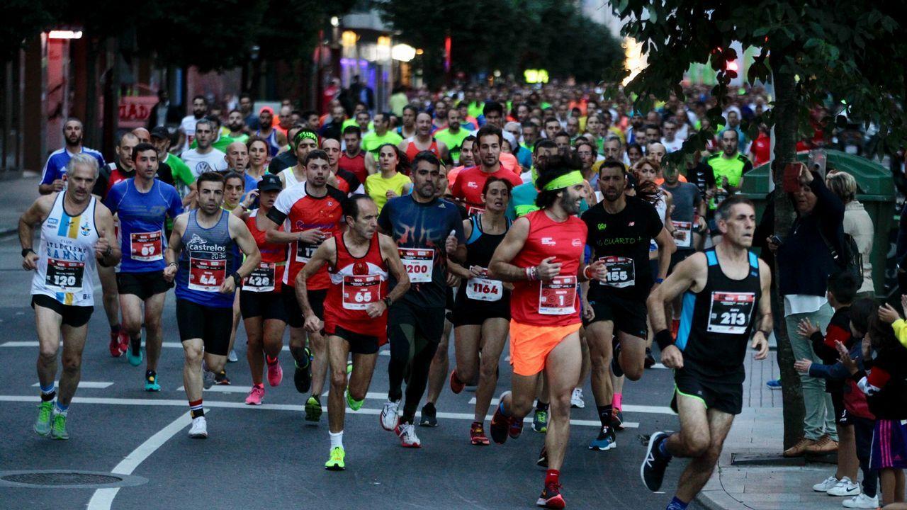 La carrera del Tirso de Molina contó con más de 400 atletas.alberto Juantorena