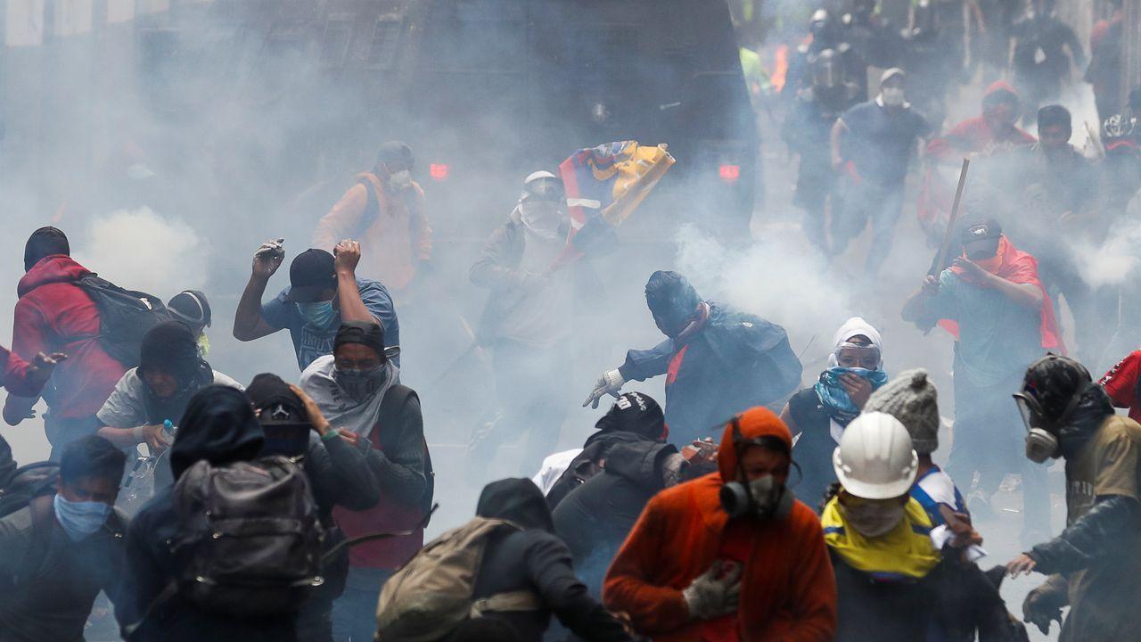Miles de indígenas se manifestaron en el centro histórico de Quito