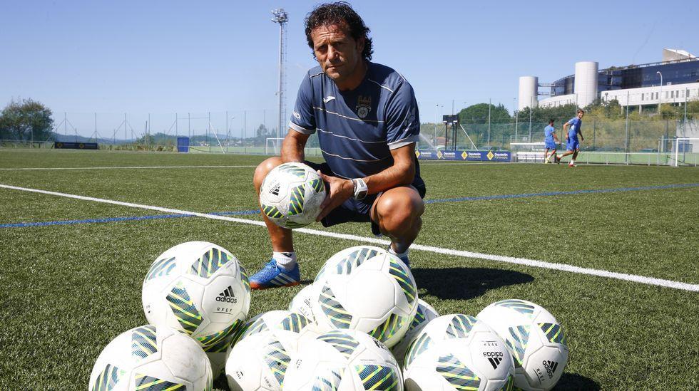 Christian Fernández: ascensos, cesiones y mucha experiencia.Christian Fernández durante un entrenamiento