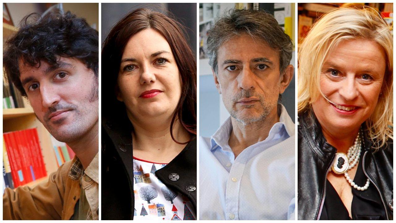 Los escritores Xacobe Pato, Ledicia Costas, Juan Tallón y Nieves Abarca proponen distintos títulos, de ficción y no ficción, para regalar este Día del Libro