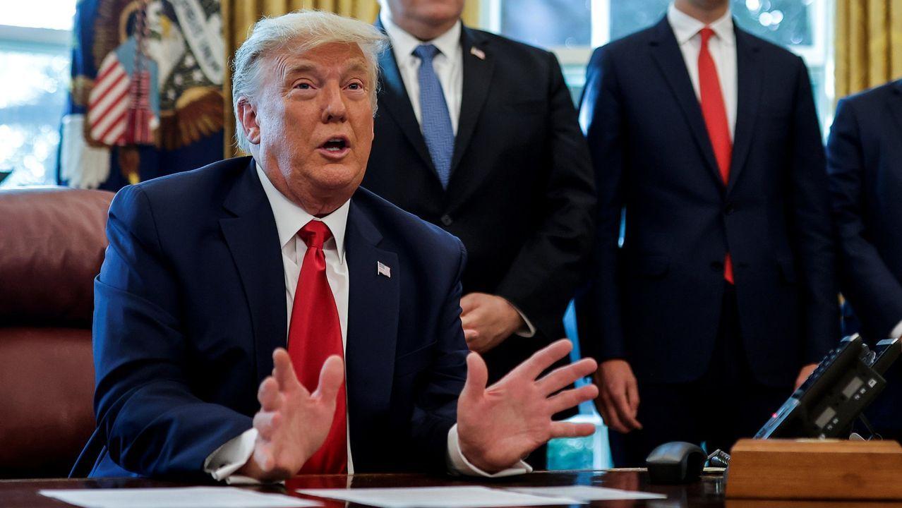 El youtuber que se come el cachopo más grande de España.Trump en el Despacho Oval, en una imagen de octubre del 2020