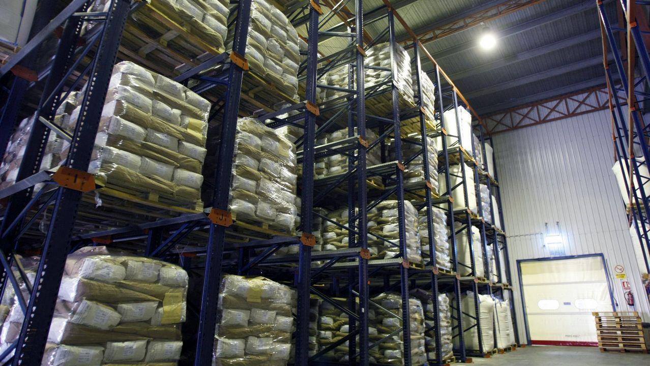 El Mercado de Frutas de A Grela más solidario.La factoría de Euroserum emplea a 45 personas en el polígono industrial de Monforte